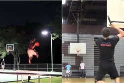 Brodie Smith, Frisbee, Dude Perfect, Duell, basket