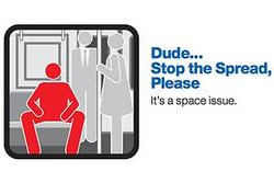 man-spreading, Kampanj, tunnelbana, New York,  Metropolitan Transportation
