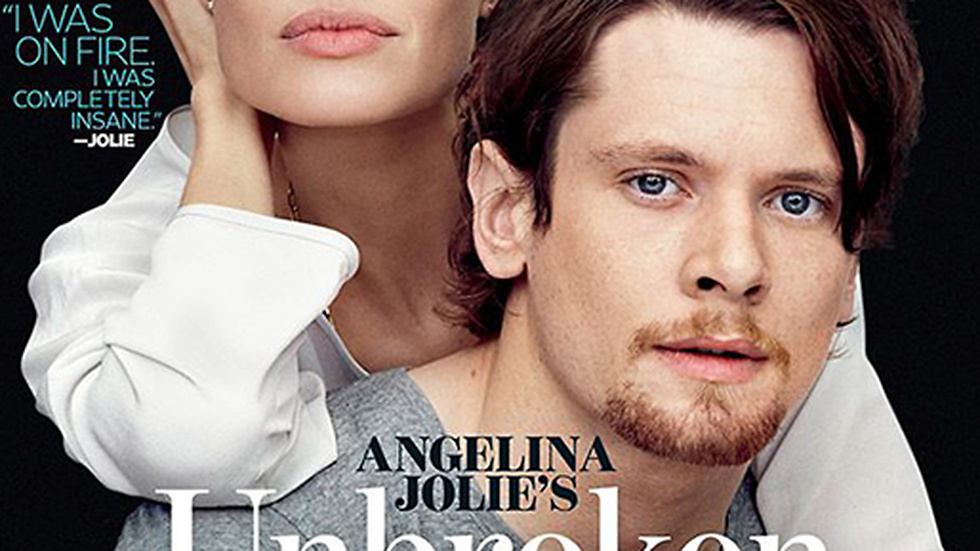 Angelina Jolie och Jack O'Conell på omslaget till Entertainment Weekly.