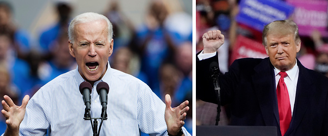 Valet i USA 2020, Joe Biden, Donald Trump