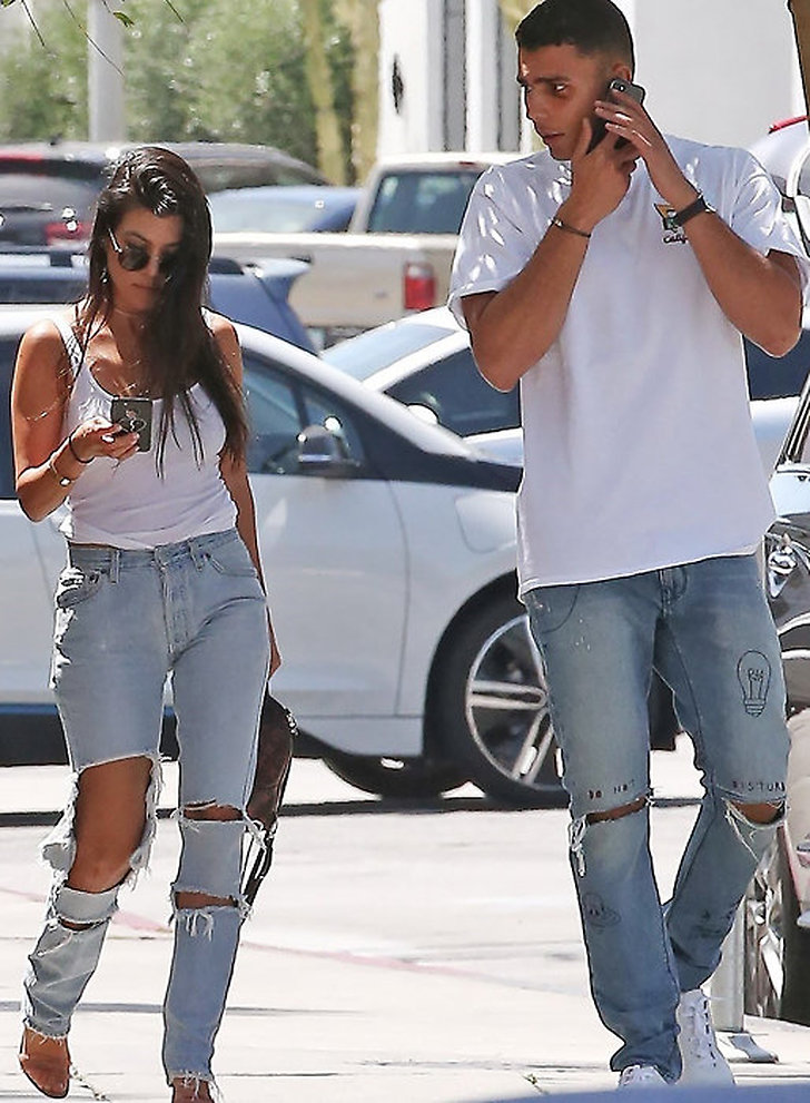 Kourtney och Younes i Beverly Hills.