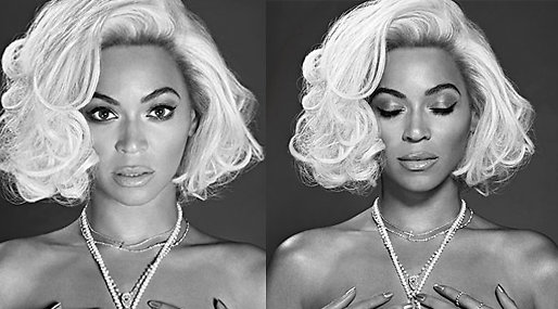 Beyoncé,  OUT, Topless, Marilyn Monroe