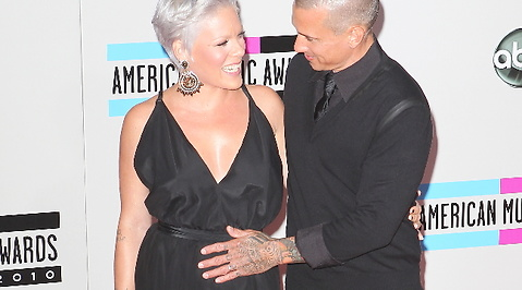 American Music Awards, Pink, Carey Hart, Mage, Gravid