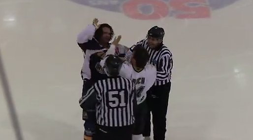 high five,  Gaby Roch, Slagsmål,  LNAH, Hockey, Joël Thériault