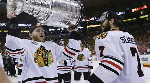 Marcus Krüger, Niklas Hjalmarsson, Johnny Oduya, Boston Bruins, Chicago Blackhawks, Stanley Cup