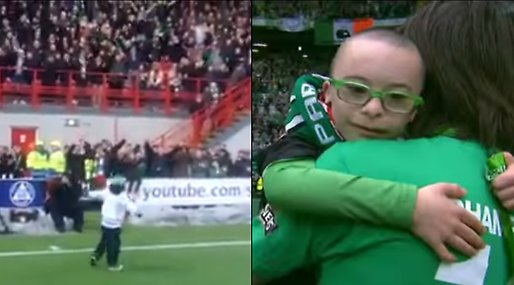 Jay Beatty,  Georgios Samaras, Supporter,  Martin Beatty, Downs syndrom, Arena, Celtic