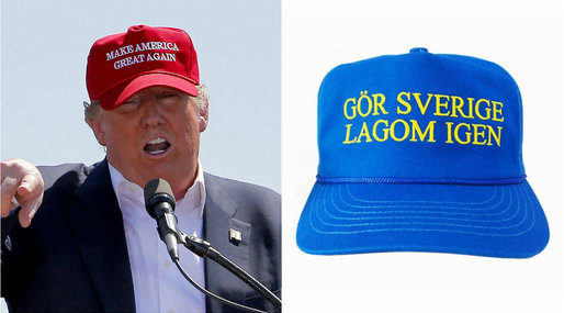 Donald Trump, Sverige, Make America great again, Keps
