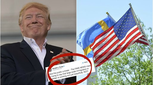 Sverige, Fake news, Donald Trump