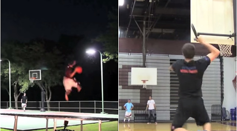basket, Dude Perfect, Duell, Frisbee, Brodie Smith