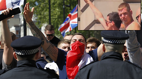 Marsch, woolwich, Demonstration, English Defence League, monument, Högerextrem, EDL