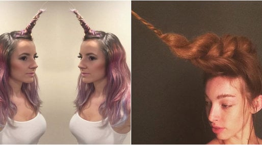 Enhörning, unicorn,  hair, Hårtrend